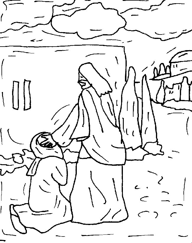 blind man coloring pages - photo#10