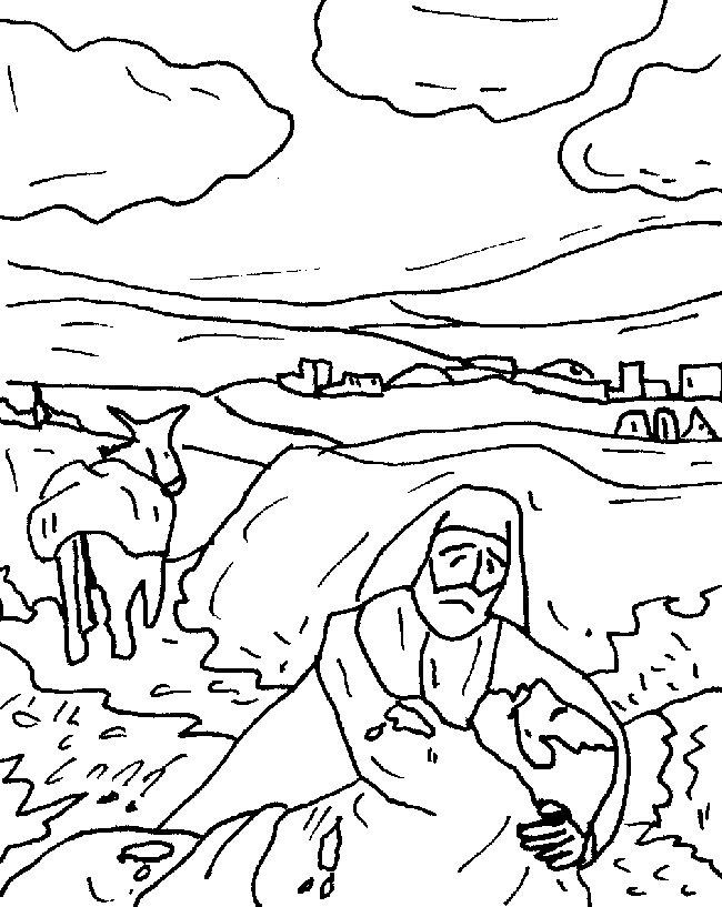 Good Samaritan Coloring Page | Sunday school preschool | 817x650