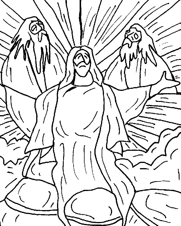 jesuss transfiguration coloring pages - photo#29