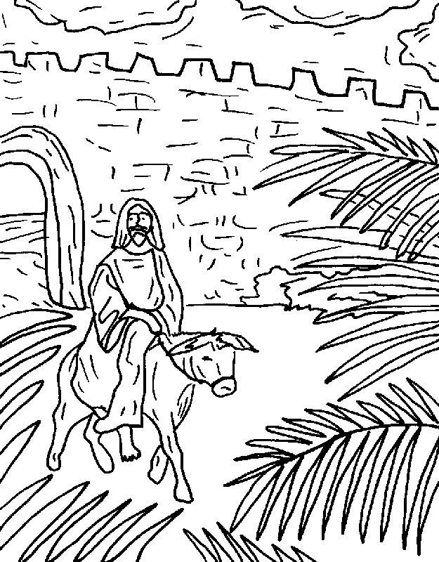 jesus triumphal entry coloring pages - photo #40